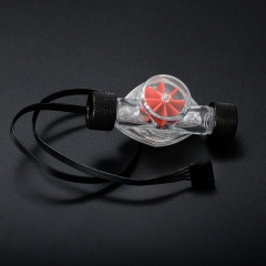 Syscooling 2016 new water flow indicator with led light red impeller